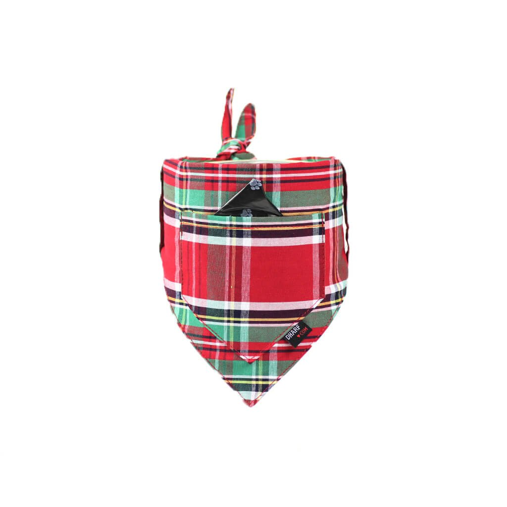 Dog Bandana and Collar - Inbuilt Pocket – Scottish Tartan - Dharf - 6