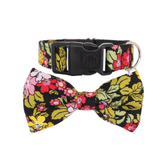 NEW Dog Bow Tie and Collar Set : Rose & Hubble