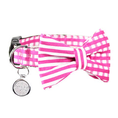 Dog Bow Tie and Collar Set : Pink Mix and Match