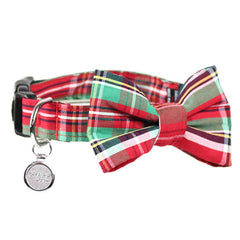 Dog Bow Tie and Collar Set : Scottish Tartan
