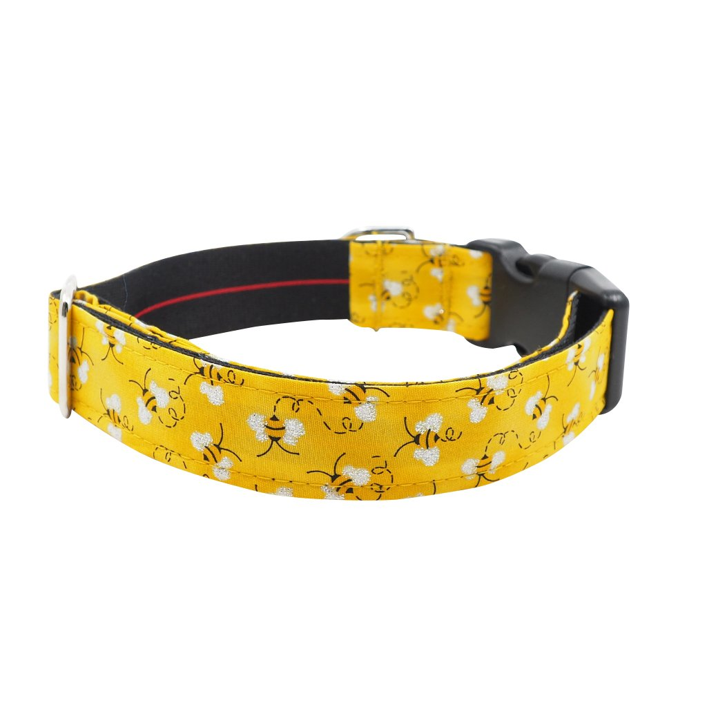 NEW Dog Bandana and Collar with Inbuilt Pocket : Bumble Bee