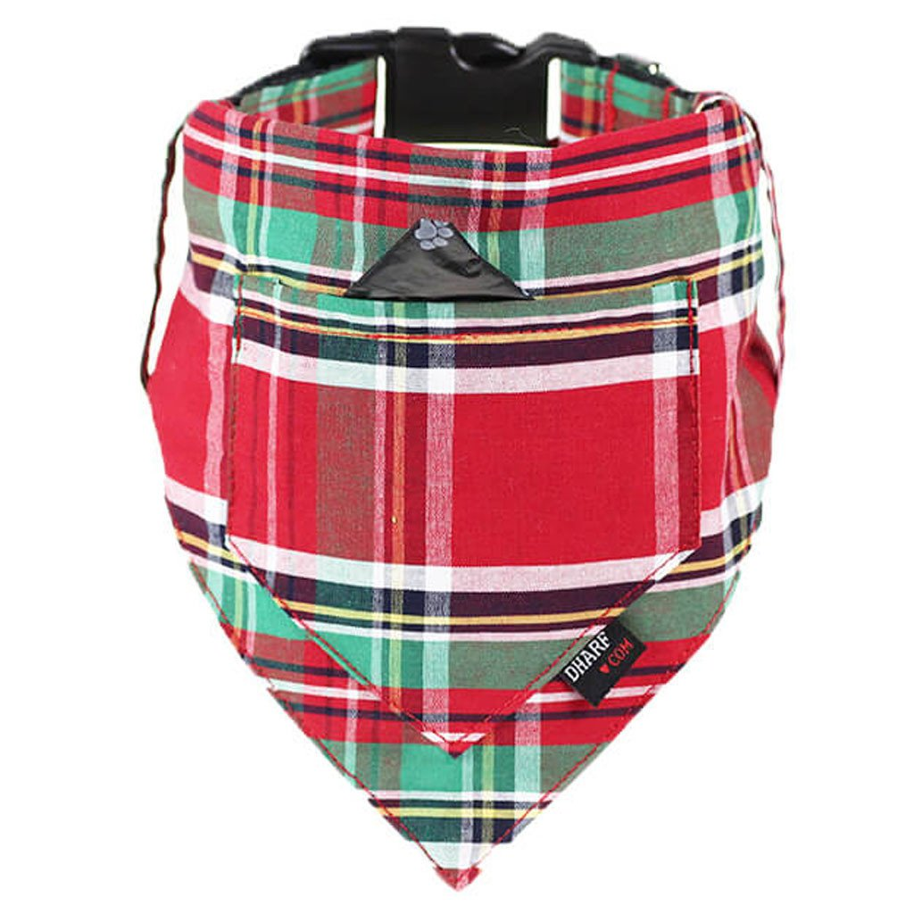 Dog Bandana and Collar - Inbuilt Pocket – Scottish Tartan - Dharf - 1