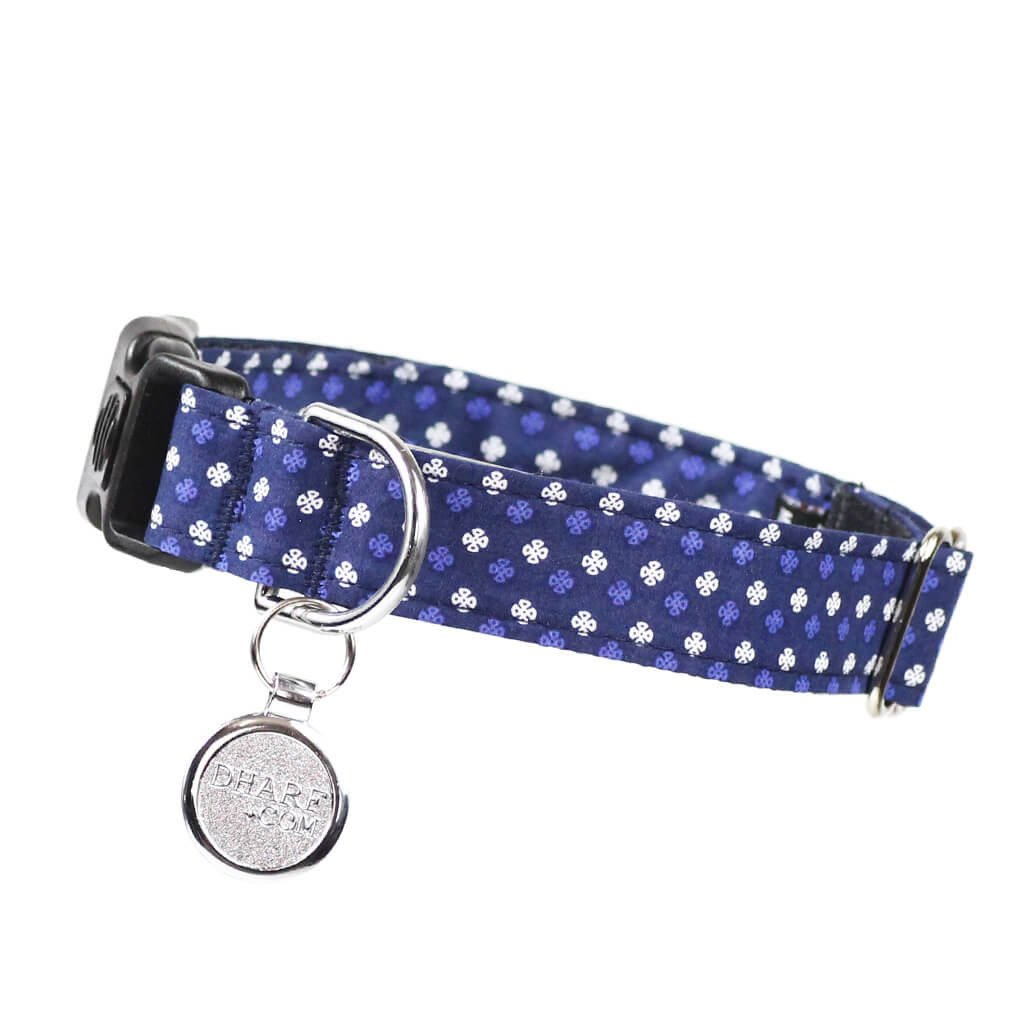 Dog Collar, Bow tie and Leash Set : Blue Mix and Match - Dharf - 6