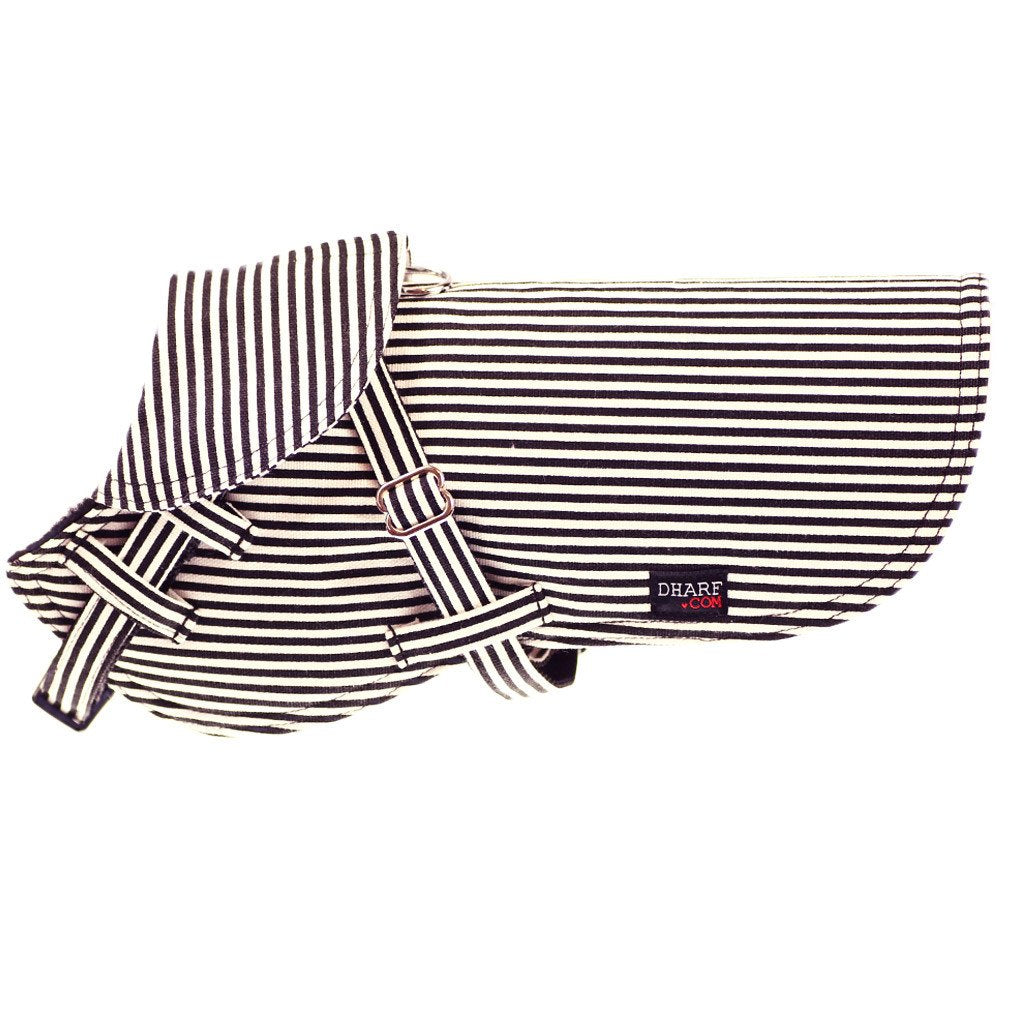 Dog Jacket : Black stripes - Dharf - 1