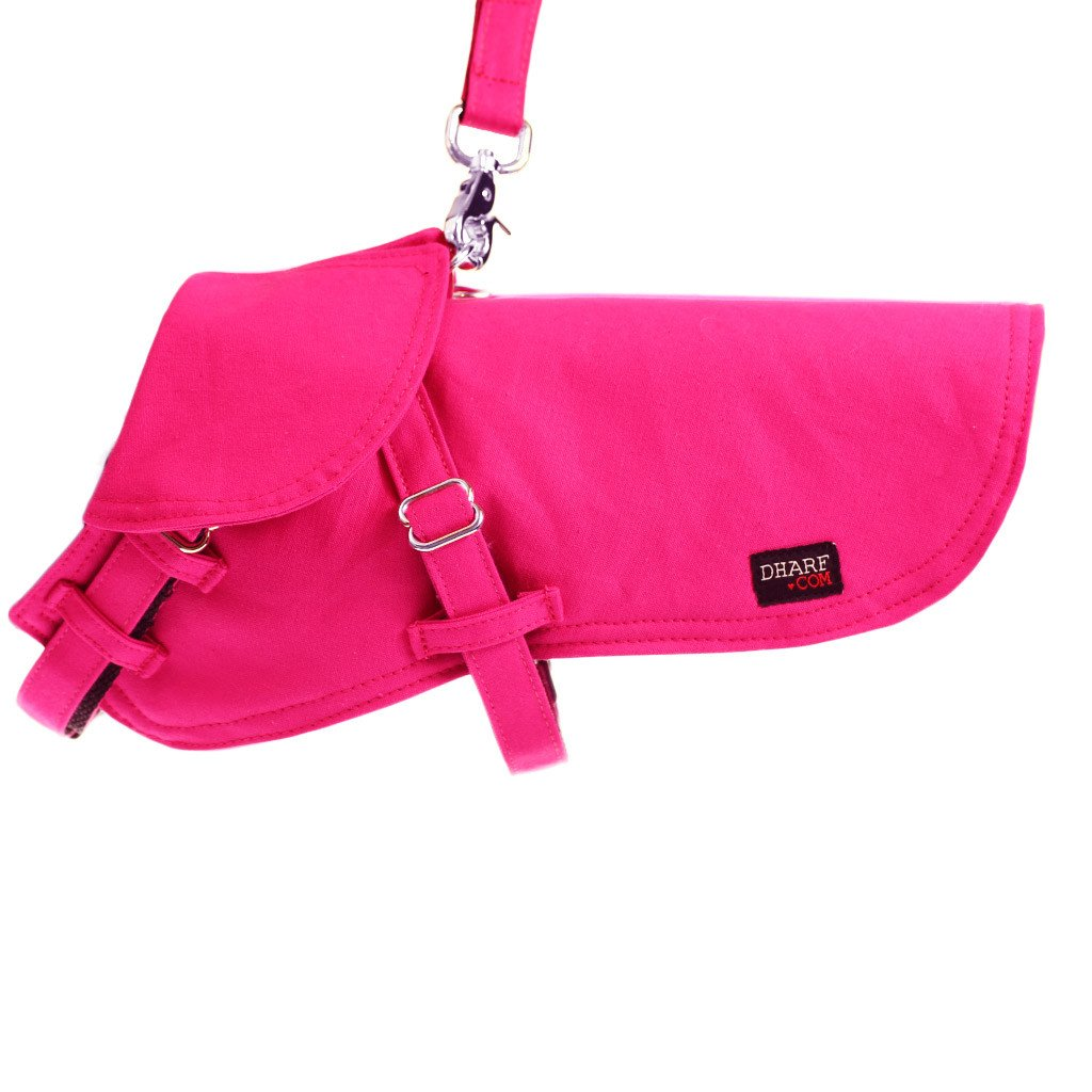 Dog Jacket Water-repellent and Lead Set : Hot Pink - Dharf - 1