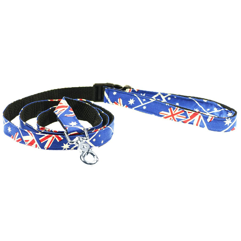 Dharf cog leash in Australian flag pattern
