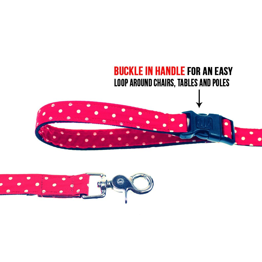 Cat Bow-tie Harness & Leash : Red Polka - Dharf - 6
