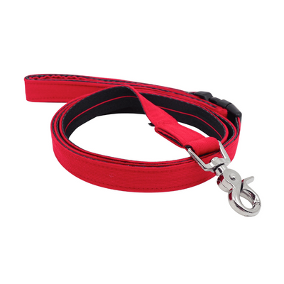 Dog Leash : CORDUROY FLAME RED