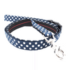 Dog Leash : NAVY POLKA DOT