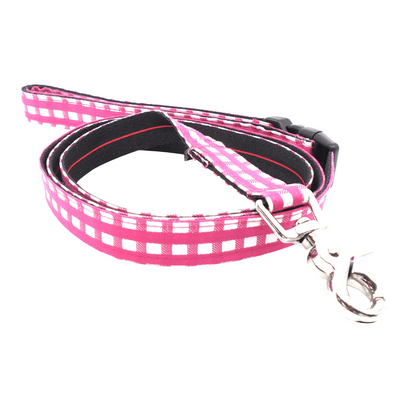 Dog Leash : PINK CHECK
