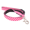 Dog Leash : PINK POLKA DOT