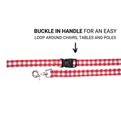 Dog Leash : RED CHECKS