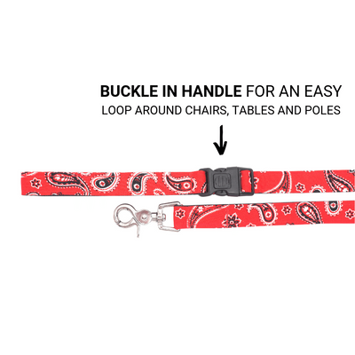 Dog Leash : RED PAISLEY