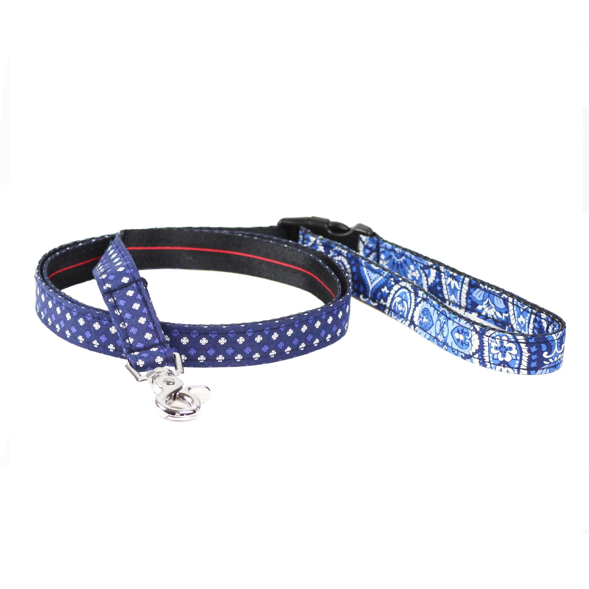 Dog Collar, Bow tie and Leash Set : Blue Mix and Match - Dharf - 4