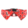 Dog Shirt Collar :  Red Paisley