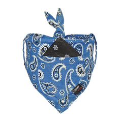 Dog Bandana With Built-in Pocket : BLUE PAISLEY