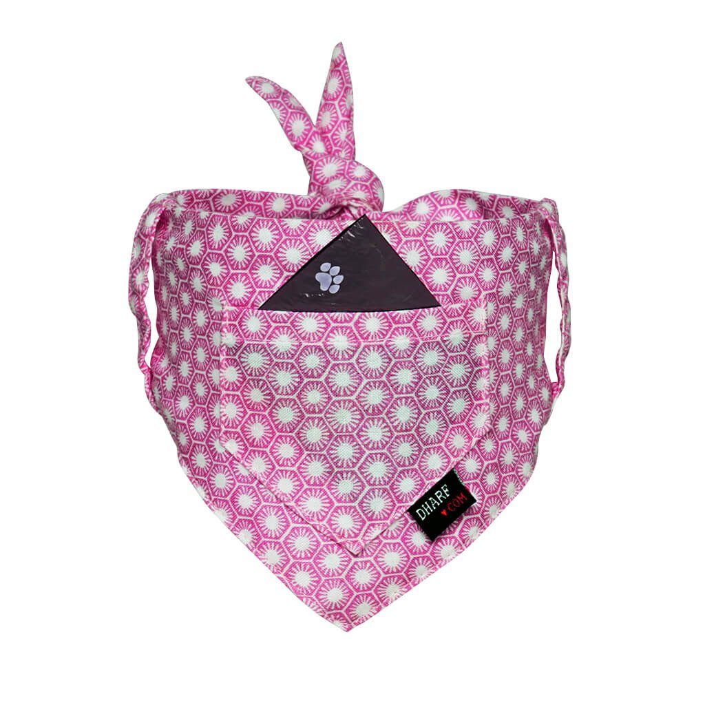 Dog Bandana - Pocket Front – PINK SUNRISE - Dharf - 1