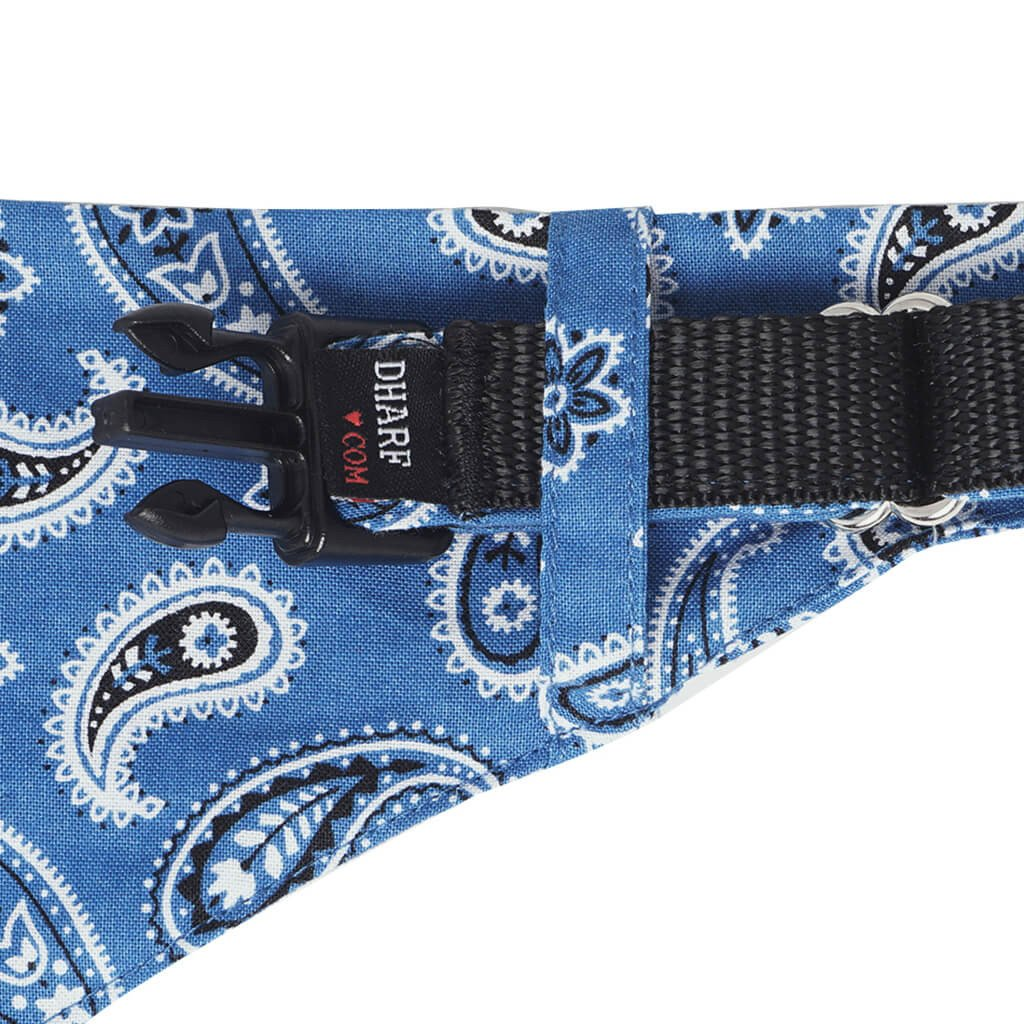 Dog Bandana, Collar and Leash Set - Blue Paisley