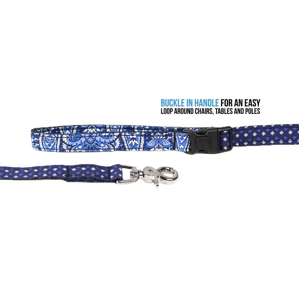 Dog Collar, Bow tie and Leash Set : Blue Mix and Match - Dharf - 5