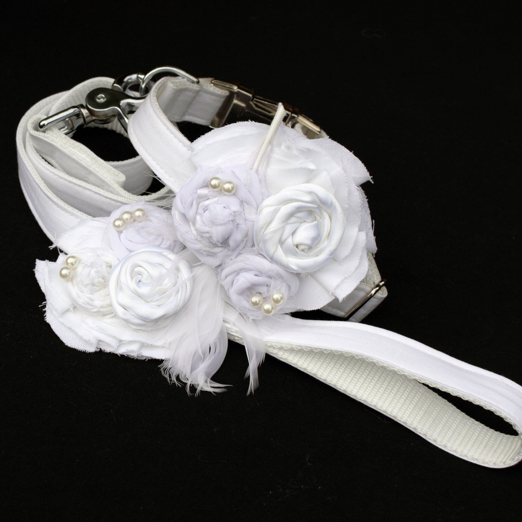 Wedding Dog Collar & Flower - Dharf