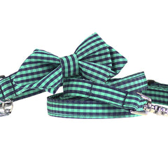 Envy Diamond Point Bow Tie Collar and Leash Set