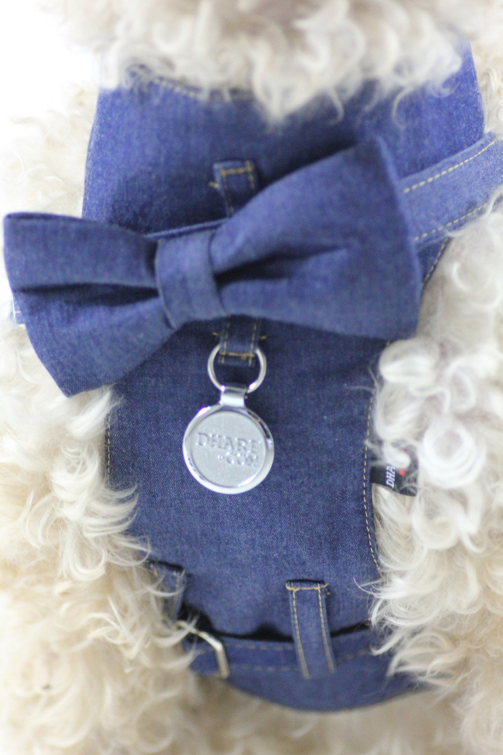 Jean harness and bow tie