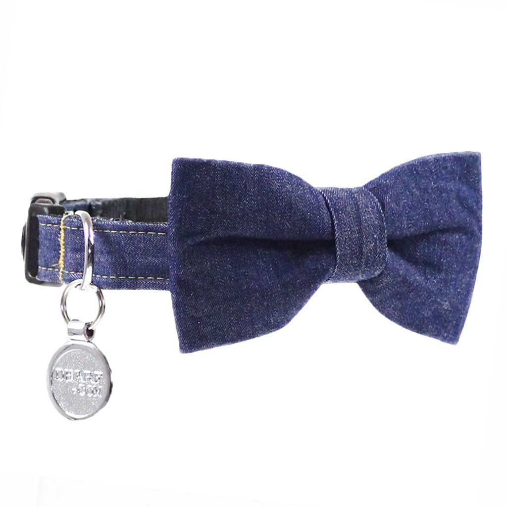 Dog Bow Tie and Collar Set : Jeans