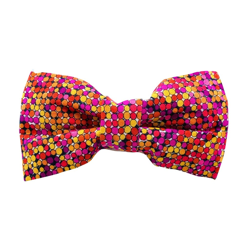 SALE : Dog Bow Tie and Collar Set :  Colourful Bubbles