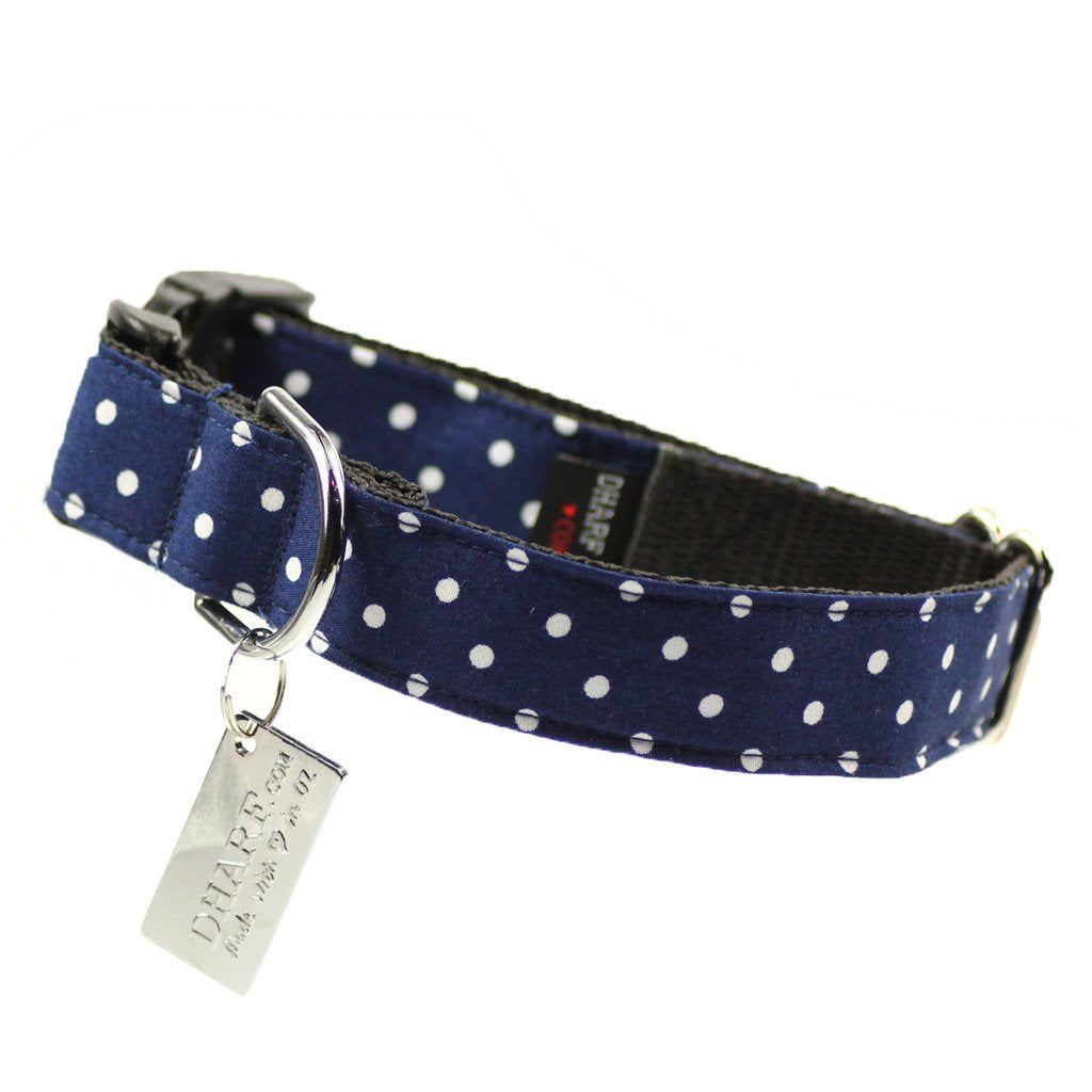 Dog Bow Tie and Collar Set : Spirited Blue Polka - Dharf - 3