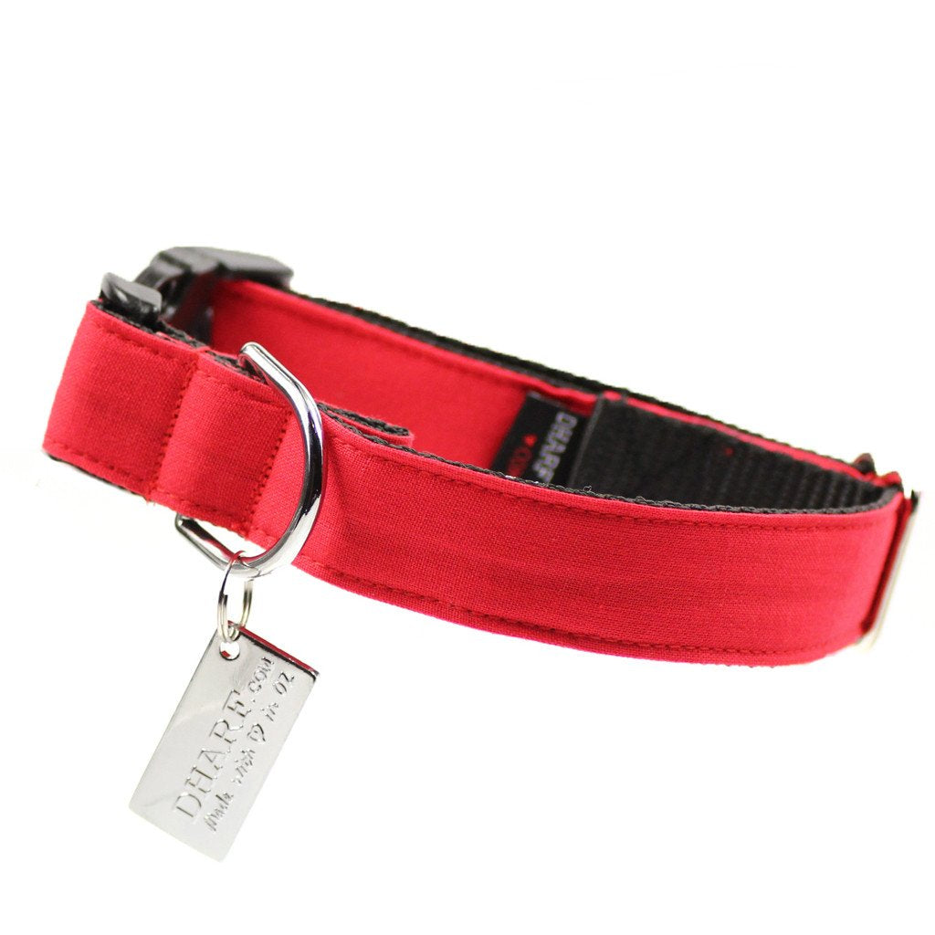 Dog Bow Tie and Collar Set :  Merry Red - Dharf - 4