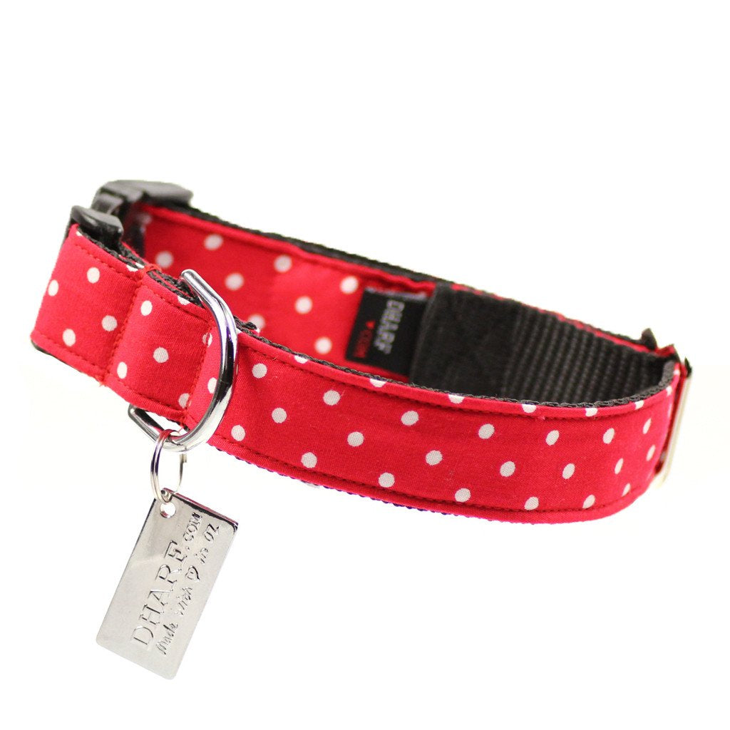 Dog Bow Tie and Collar Set : Red Polka