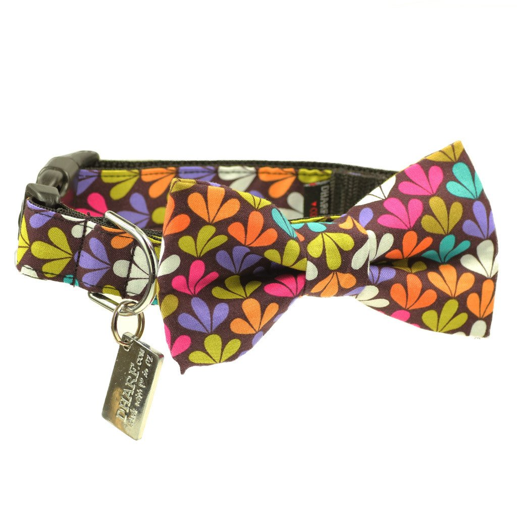 Dog Bow Tie and  Collar Set : Peace and Love - Dharf - 1