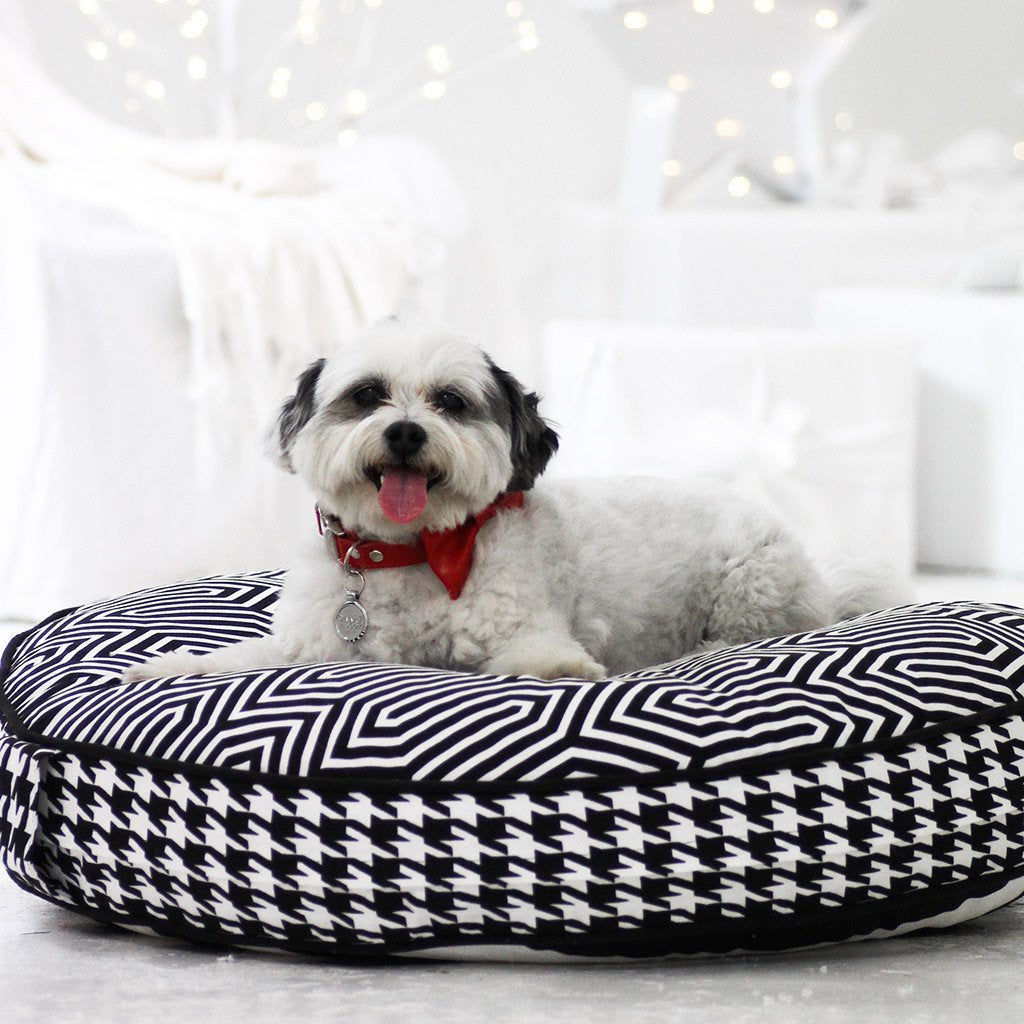 Cloud Bed: Black Reversible Dog Bed - Dharf - 3