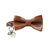 Leather Cat Bow Tie and Collar Set: Whisky Brown
