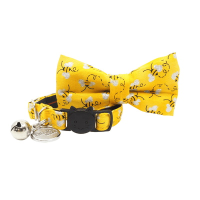 NEW Cat Collar and Bow Tie: Bumble Bee