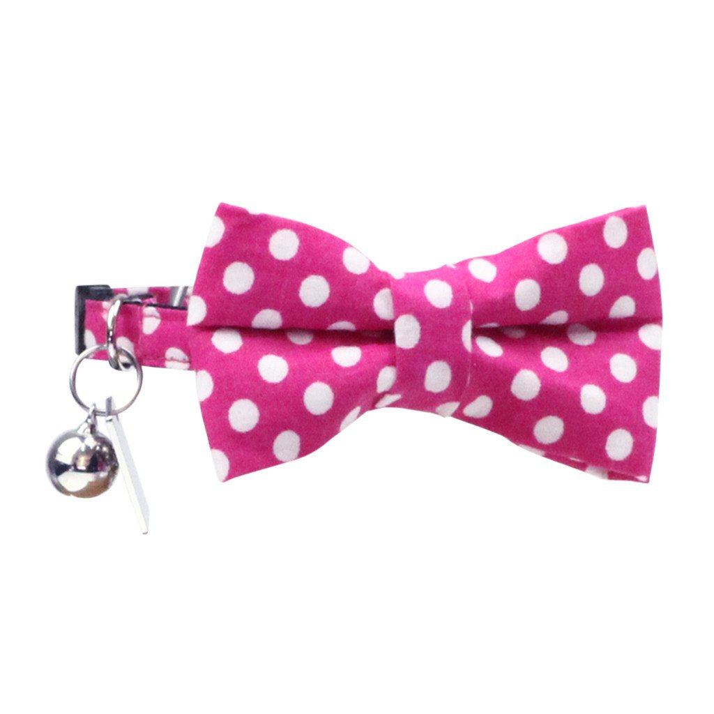 bb2c713d1c0f Cat Collar and Bow Tie : Pink Polka Dot - DHARF