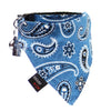 Dharf Cat Bandana and Collar in Blue Paisley print