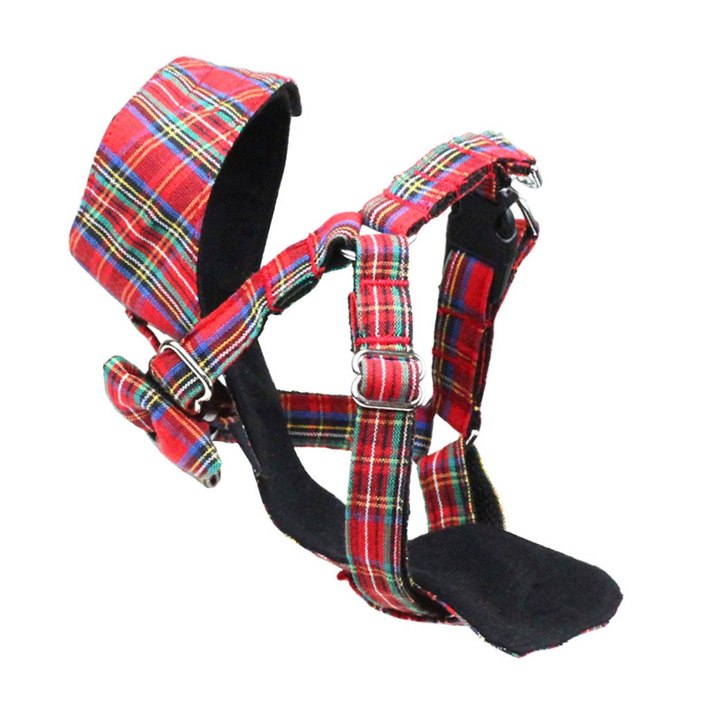 Dog Bow-tie Harness : Red Tartan - Dharf - 5