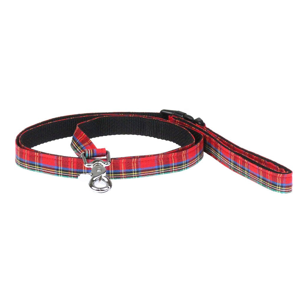 Cat Bow-tie Harness & Leash : Red Tartan - Dharf - 5