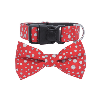 NEW Dog Bow Tie and Collar Set: Metallic All That Glitters