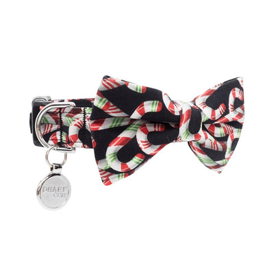 NEW Dog Bow Tie and Collar Set: Candy Canes
