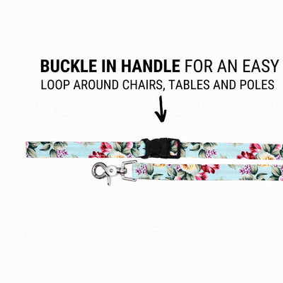 Dog Leash : SUMMER BLOSSOM IN LIGHT BLUE