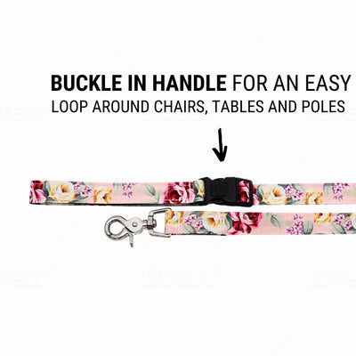 NEW Dog Leash : SUMMER BLOSSOM IN LIGHT PINK