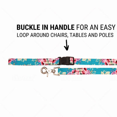 NEW Dog Leash : SUMMER BLOSSOM IN TURQUOISE