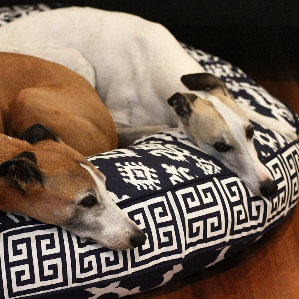 Cloud Bed: Navy Blue Reversible Dog Bed - Dharf - 3