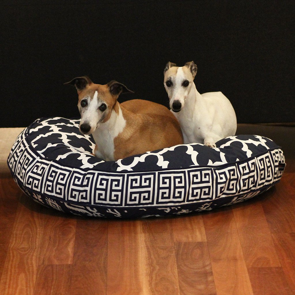Cloud Bed: Navy Blue Reversible Dog Bed - Dharf - 4
