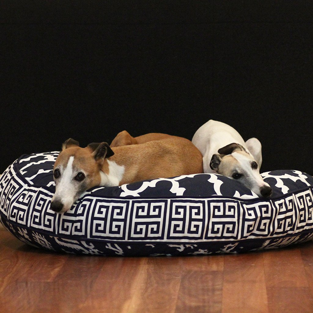 Cloud Bed: Navy Blue Reversible Dog Bed - Dharf - 1