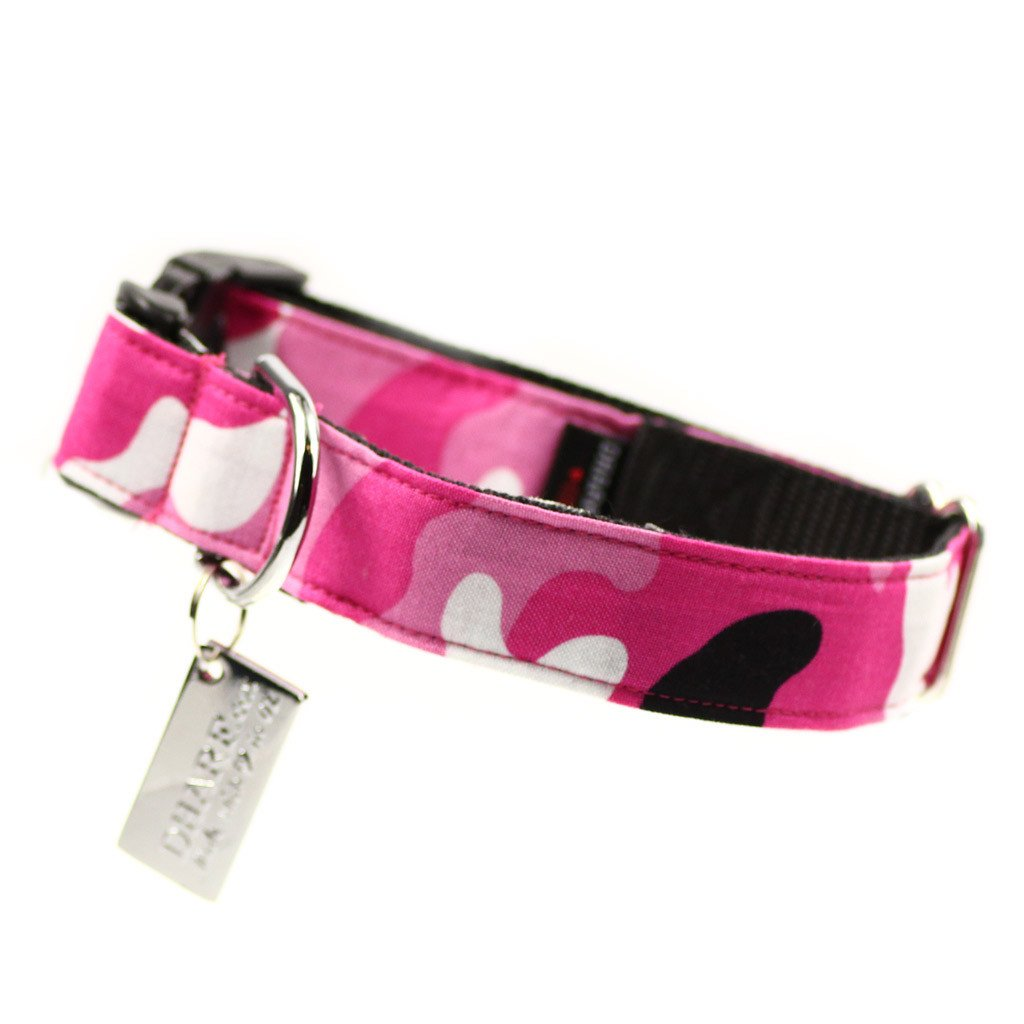 Dog Bandana and Collar : Pink Army - Dharf - 3