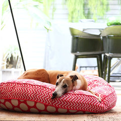 Cloud Bed: Pink Reversible Dog Bed