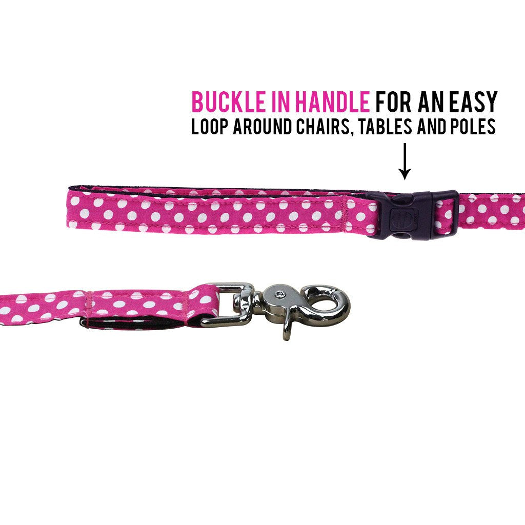 Cat Bow-tie Harness & Leash : Fuchsia Polka - Dharf - 5